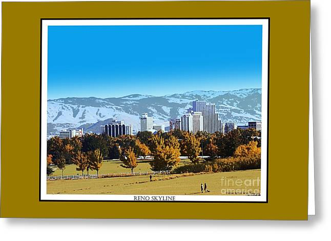 Reno Skyline From Rancho San Rafael Greeting Card