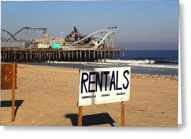 Rentals At The Shore Greeting Card by Allen Beilschmidt