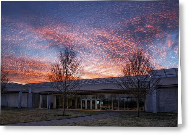 Renzo Piano Pavilion Greeting Card by Joan Carroll