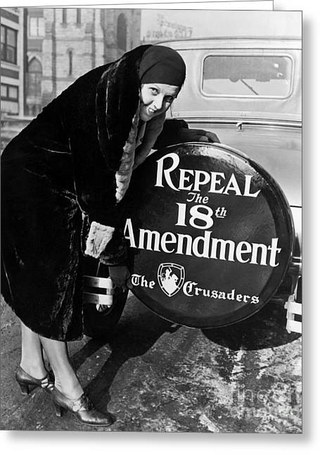 Repeal The 18th Amendment Greeting Card by Jon Neidert
