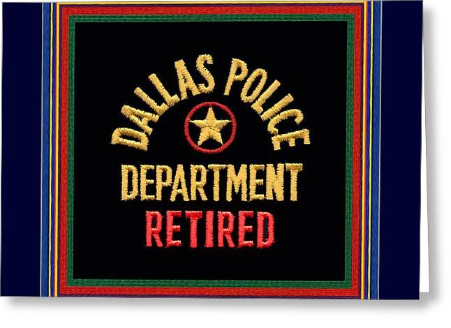 Replica D P D Patch - Retired With Epaulette Colors Greeting Card