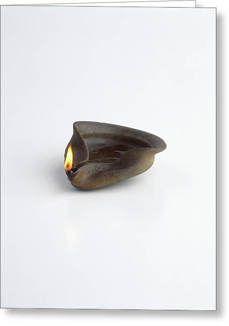 Replica Of Ancient Egyptian Oil Lamp Greeting Card