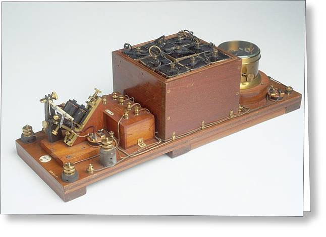 Replica Of Marconi's Wireless Telegraph Greeting Card