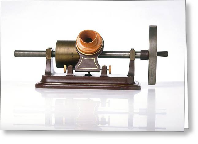 Replica Of Thomas Edison's Phonograph Greeting Card by Dorling Kindersley/uig