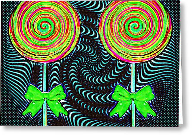 Representing The Lollipop Guild Greeting Card by Melissa Osborne