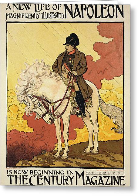 Vintage Poster Depicting Napoleon Greeting Card