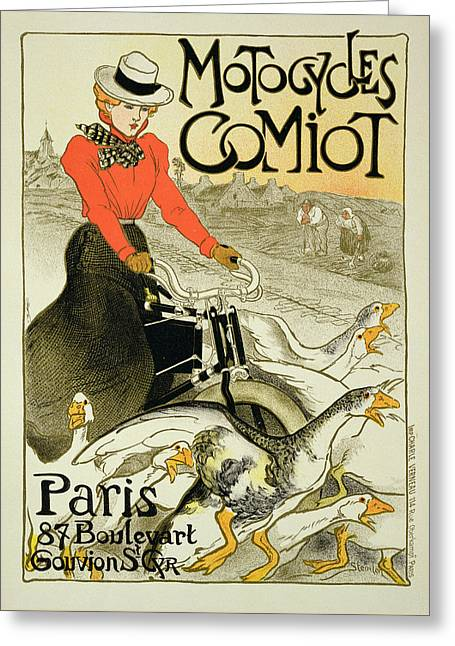 Reproduction Of A Poster Advertising Greeting Card by Theophile Alexandre Steinlen