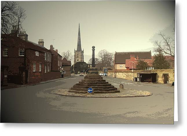 Repton Cross, This Spot Marks The Place Where Christianity Greeting Card by Litz Collection