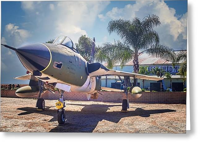 Greeting Card featuring the photograph Republic F-105 Thunder Chief by Steve Benefiel