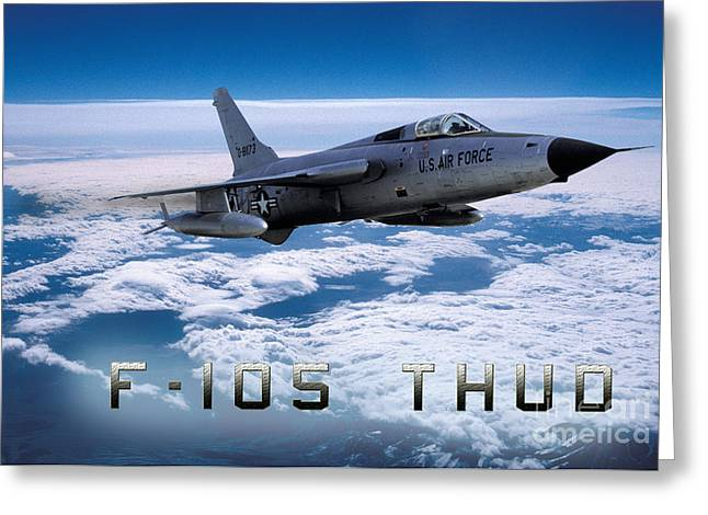 Republic F-105 Thunderchief Greeting Card