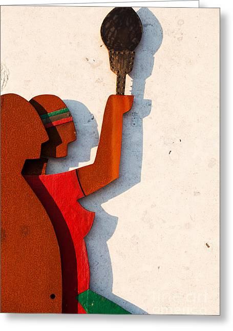 Republic Sculpture In Ourem Greeting Card by Luis Alvarenga