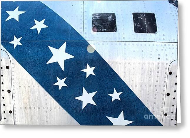 Republic Thunderflash Rf-84k - Stars Greeting Card by Gregory Dyer