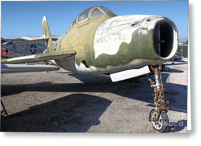 Republic Thunderstreak F-84f Greeting Card by Gregory Dyer