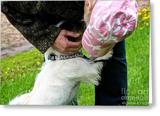 Rescued Love Greeting Card