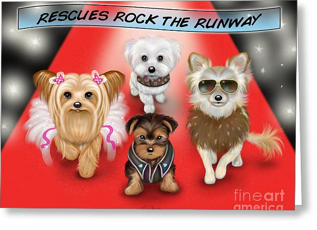 Rescues Rock The Runway Greeting Card