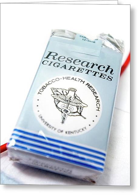 Research Cigarettes Greeting Card by Arno Massee