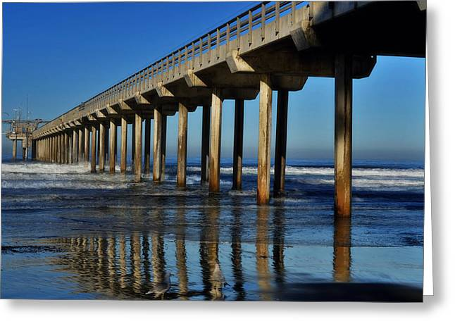 Research Pier- Scripps Greeting Card by See My  Photos