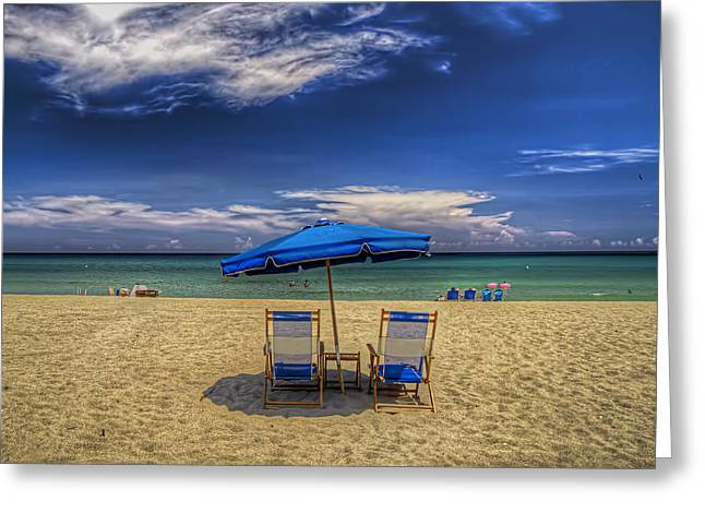 Reserved For Two Greeting Card by Island Photos