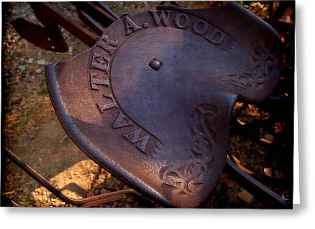 Reservered Seating - Vintage Plow Seat Greeting Card