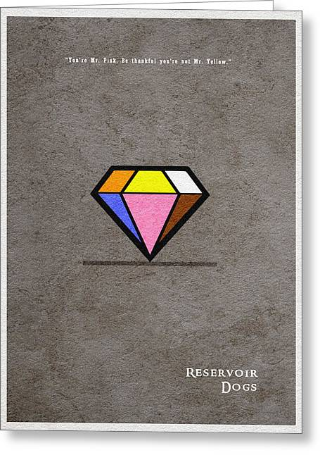 Reservoir Dogs - 3 Greeting Card by Ayse Deniz