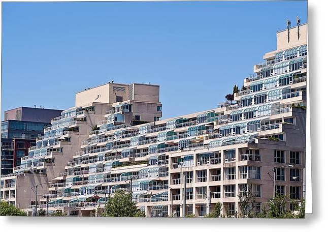 Residential Building Toronto Greeting Card by Marek Poplawski