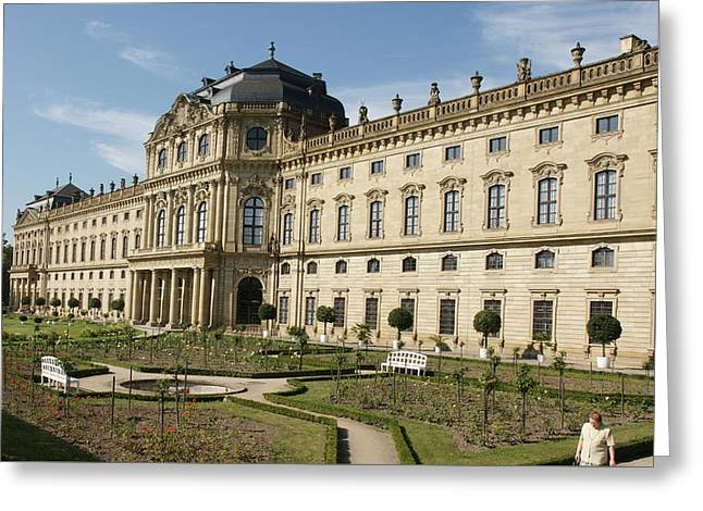 Greeting Card featuring the photograph Residenz Wurzburg by Christian Zesewitz
