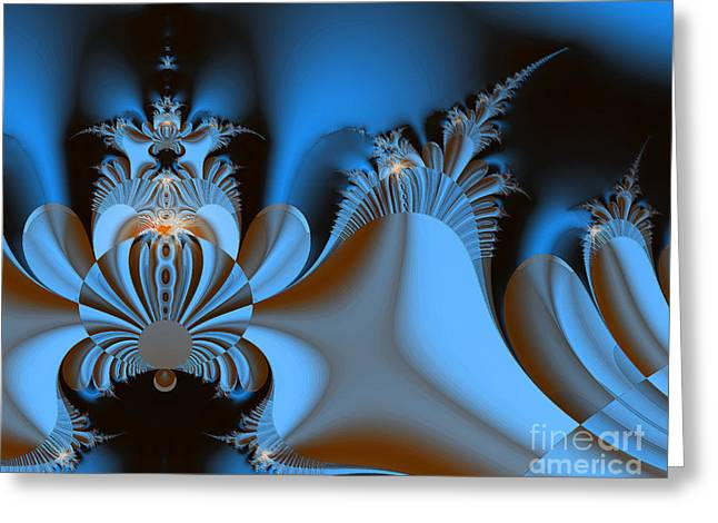 Resignation And Reality Abstract Digital Art Greeting Card