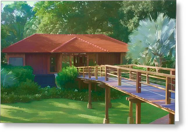 Resort Spa Greeting Card