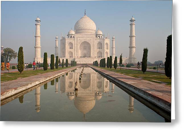 Resplendent Taj Mahal Greeting Card by Mike Reid