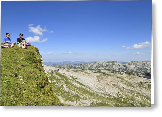 Rest In Beautiful Mountain Landscape Greeting Card by Matthias Hauser
