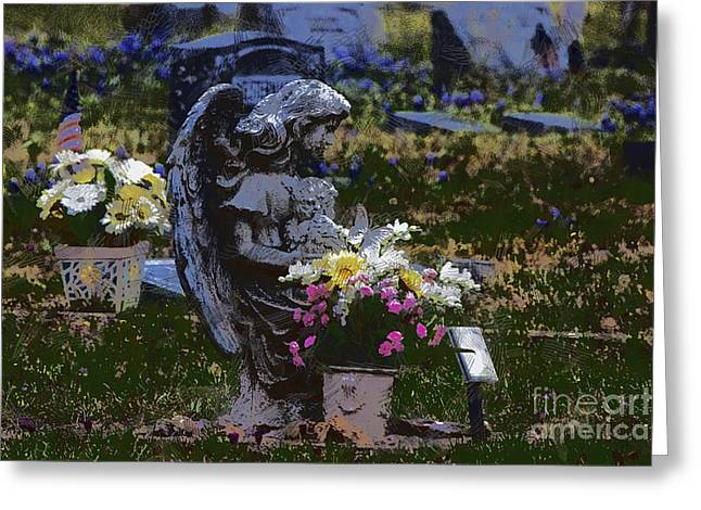 Rest In Peace V2 Greeting Card by Douglas Barnard