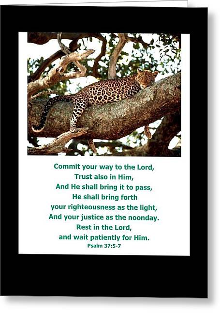 Rest In The Lord Greeting Card by For The Love Of Art