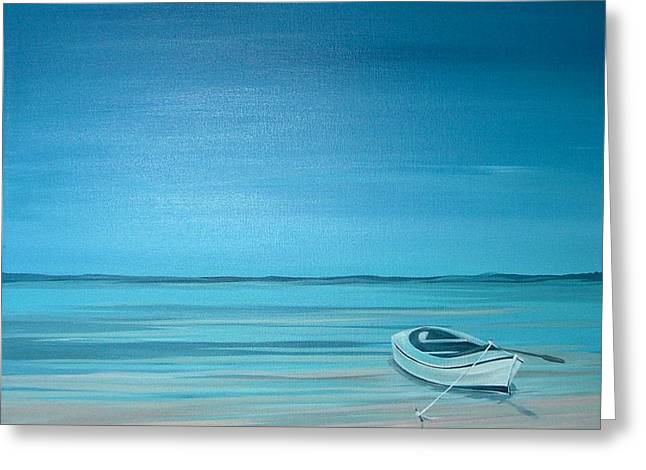 Greeting Card featuring the painting Rest On A Shore by Natasha Denger