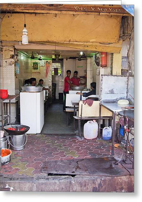 Restaurant In Dharavi Slum Greeting Card