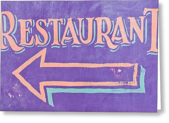 Restaurant Greeting Card by Tom Gowanlock