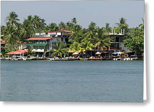 Restaurants Along The Bentota River Greeting Card by Panoramic Images