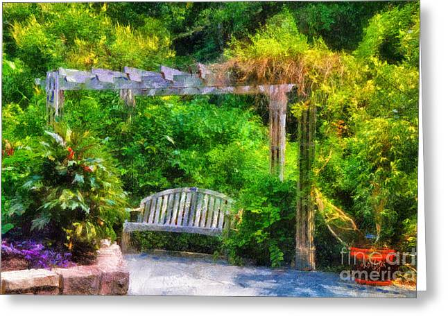 Restful Retreat Greeting Card by Lois Bryan