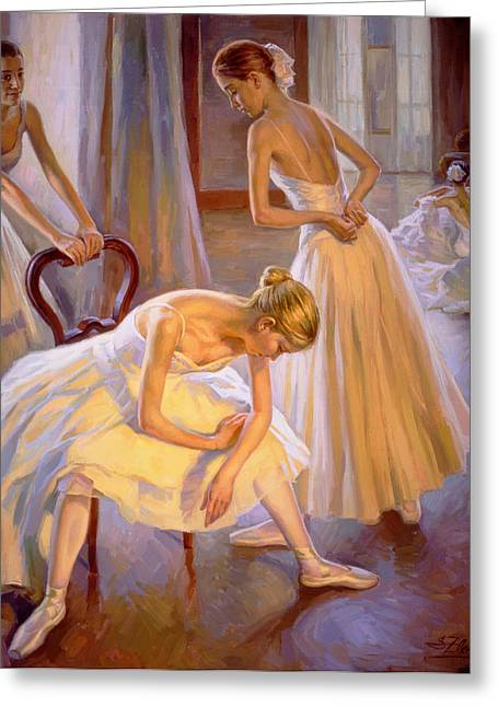 Resting Dancers Greeting Card