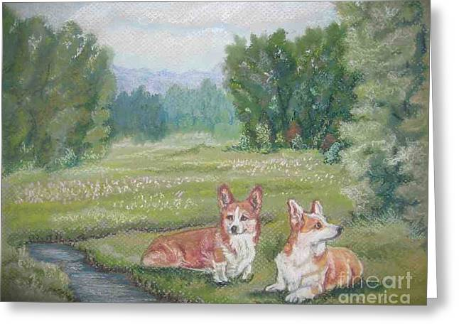 Resting In The Glen Greeting Card by Ann Becker