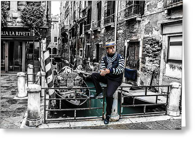 Resting In Venice  Greeting Card by Steven  Taylor