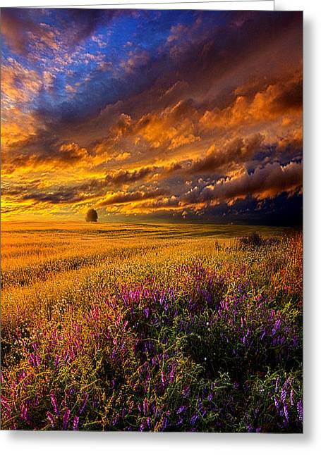 Resting In Your Smile Greeting Card by Phil Koch