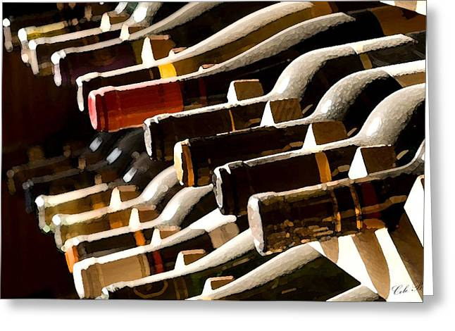Resting Wine Greeting Card by Cole Black