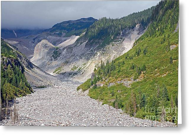 Restless Glaciers At Mount Rainier National Park Greeting Card by Connie Fox