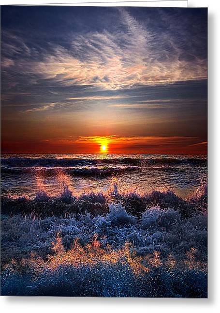 Restless Greeting Card by Phil Koch