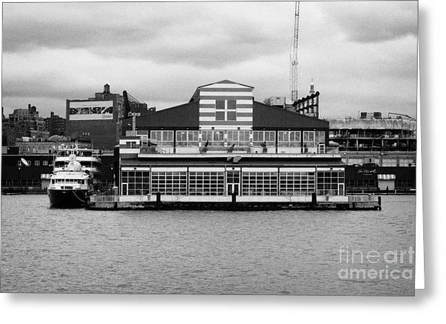 restored Chelsea Pier 60 20th century passenger ship terminal hudson new york city Greeting Card