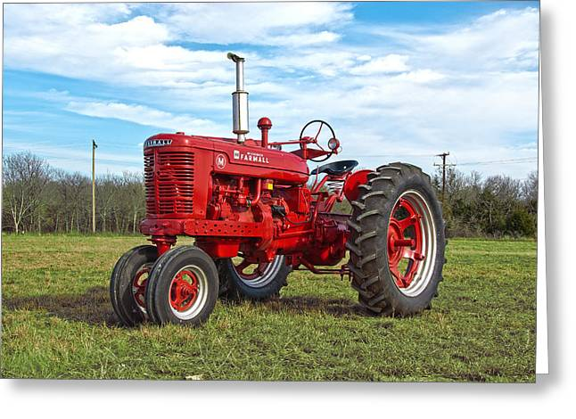 Restored Farmall Tractor Greeting Card