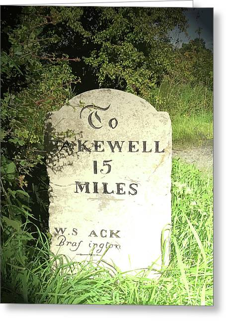Restored Milestone Near Woodeaves Mill, Several Milestones Greeting Card by Litz Collection