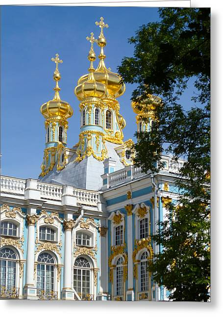 Resurrection Church Catherine Palace Greeting Card by David Nichols