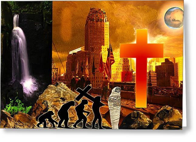 Resurrection Greeting Card by Diskrid Art