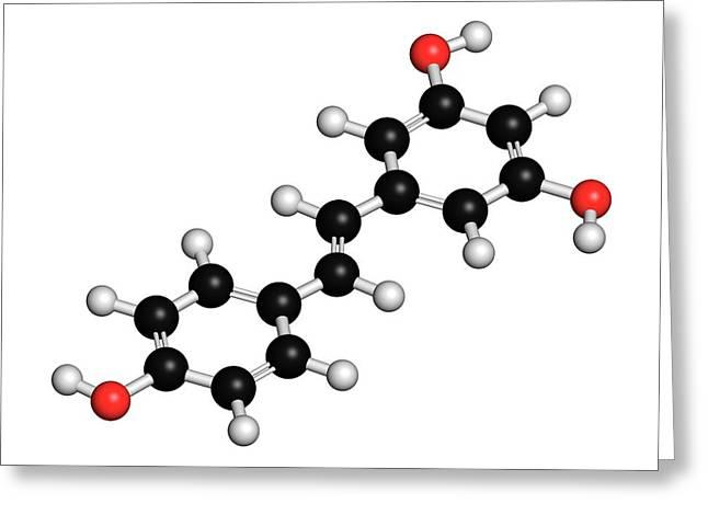 Resveratrol Molecule Greeting Card